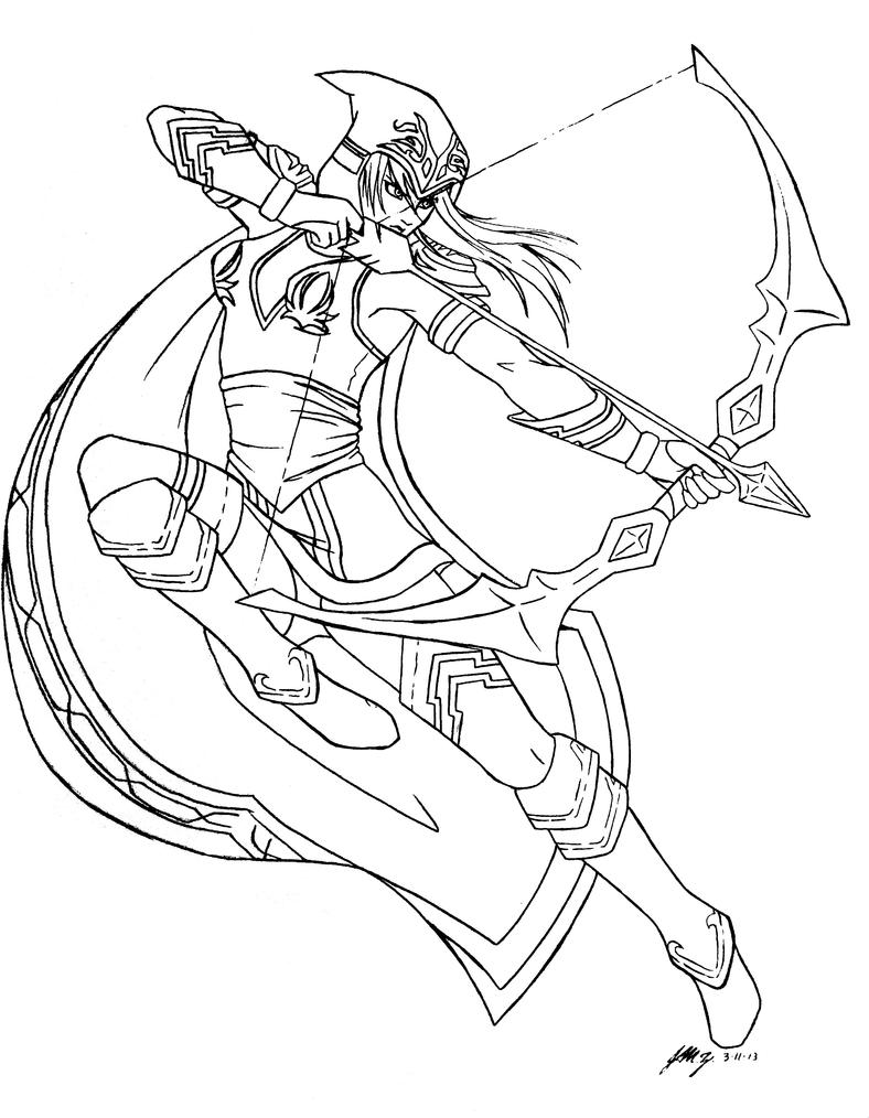 league of legends coloring pages league of legends ashe lineart by cristy201 on deviantart