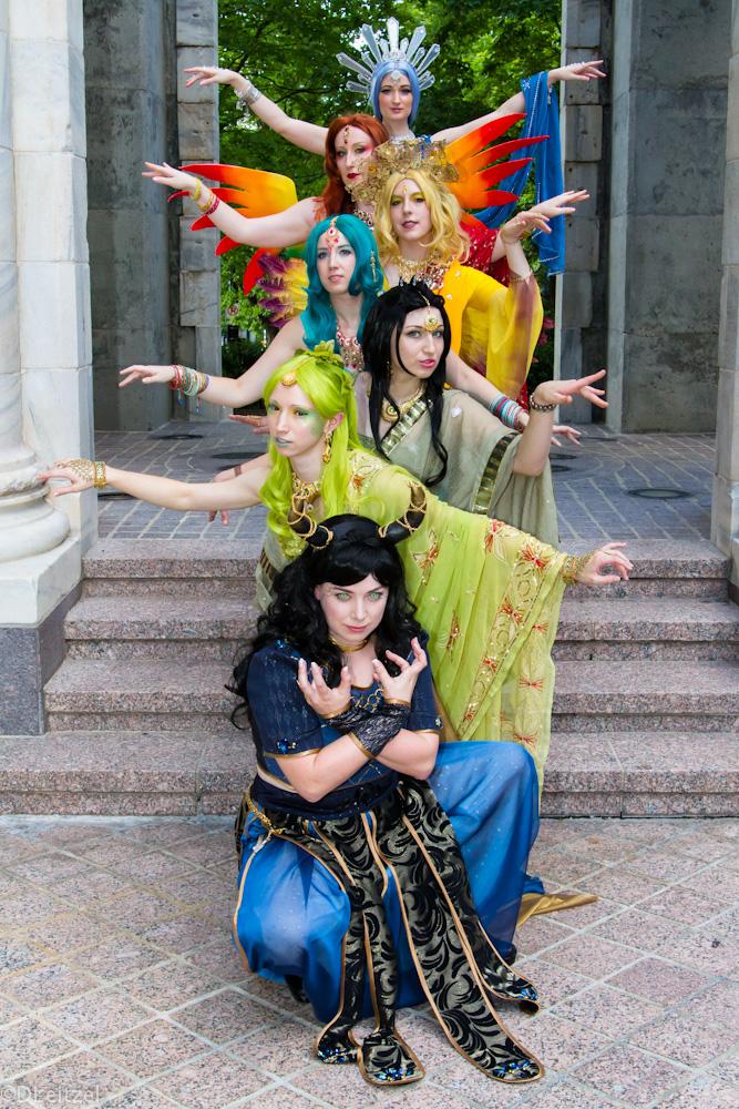 Bollywood Final Fantasy Summons by etaru