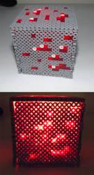 Redstone Ore Box Perler Beads by kamikazekeeg