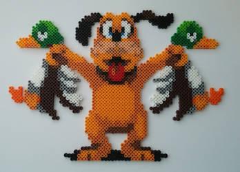 Duck Hunt Dog Perler Beads by kamikazekeeg