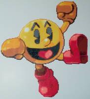 Pac-Man Smash Bros Perler Bead by kamikazekeeg
