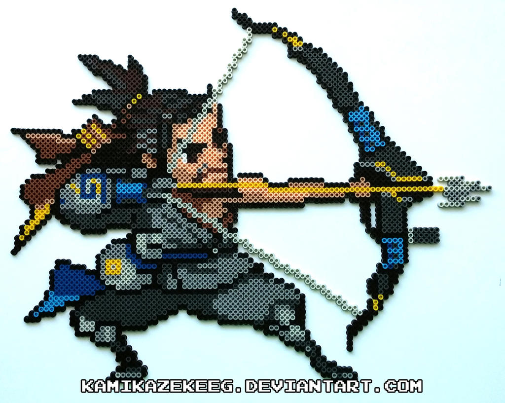 Overwatch Hanzo Perler Beads by kamikazekeeg on DeviantArt