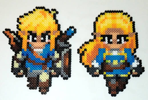 Breath of the Wild Link and Zelda Perler Beads