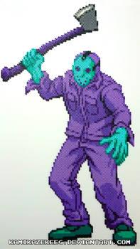 Jason Voorhees NES Perler Bead