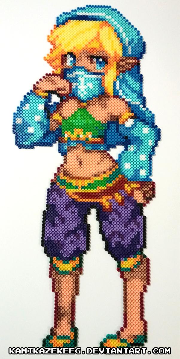 Gerudo Link Perler Beads by kamikazekeeg