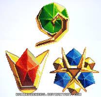 Legend of Zelda Spiritual Stones Perler Beads by kamikazekeeg