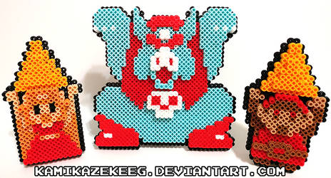 3D NES Legend of Zelda Perler Beads by kamikazekeeg