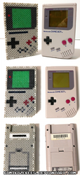 3D Game Boy 2019 Perler Beads by kamikazekeeg