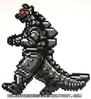 Mecha-Godzilla NES Perler Beads