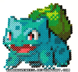 Bulbasaur Perler Beads by kamikazekeeg