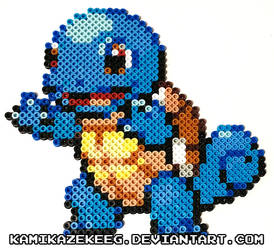 Squirtle Perler Beads by kamikazekeeg