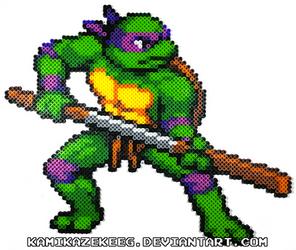 TMNT Shredders Revenge Donatello Perler Beads
