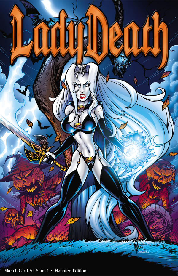 Lady Death cover art by Maus and Jensen