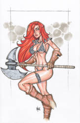 red sonja COLOR by billmausart