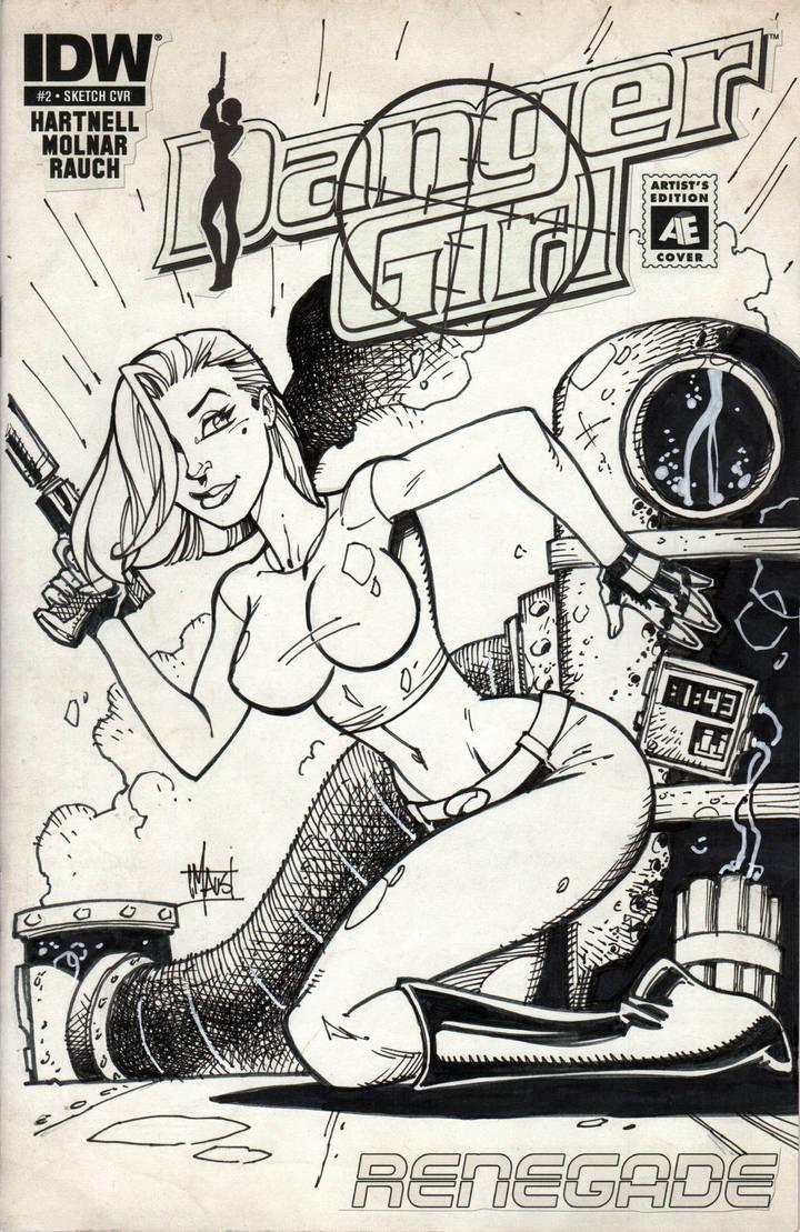 Danger Girl sketch cover by billmausart