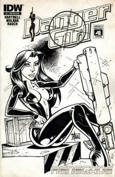 Danger Girl sketch cover 3 of 3