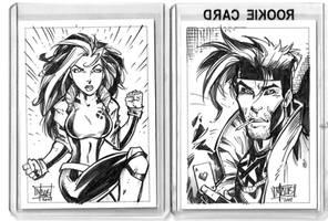 Rogue and Gambit card art
