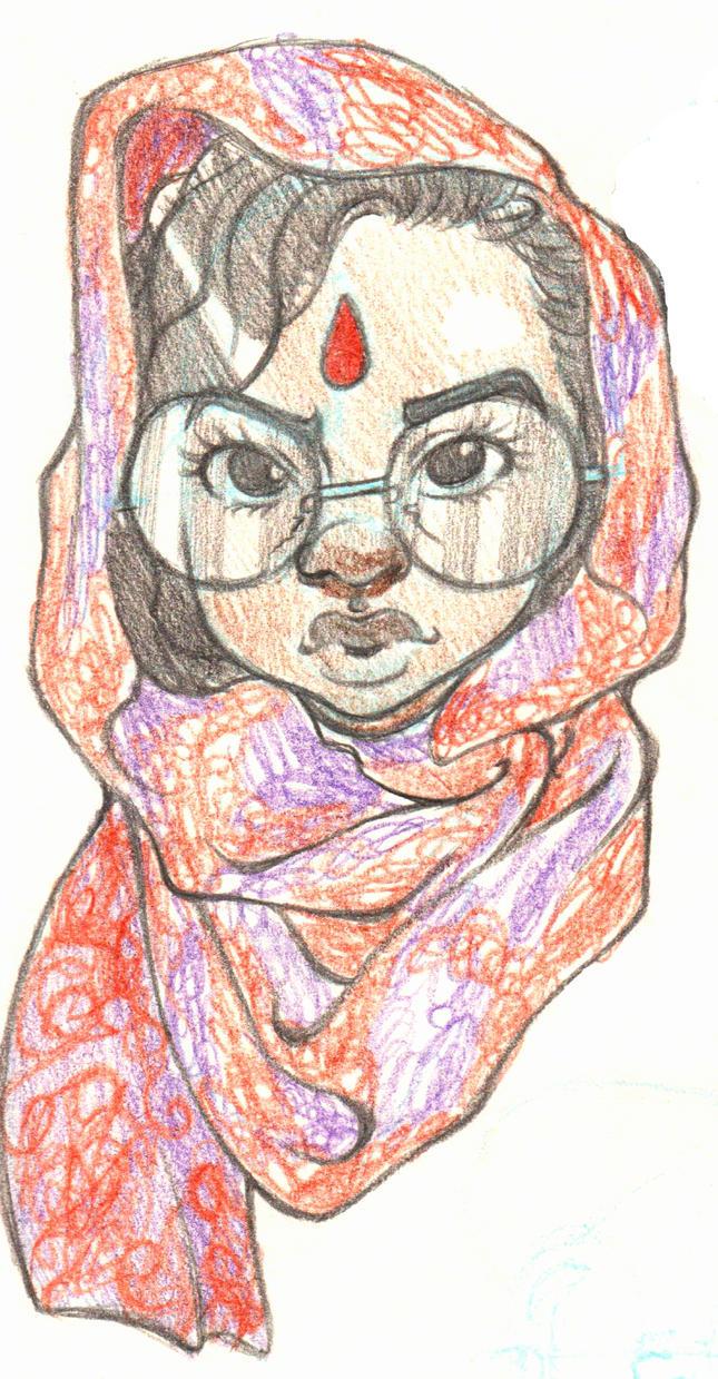 Sketch of a Lady by Cuddlebunnieluv