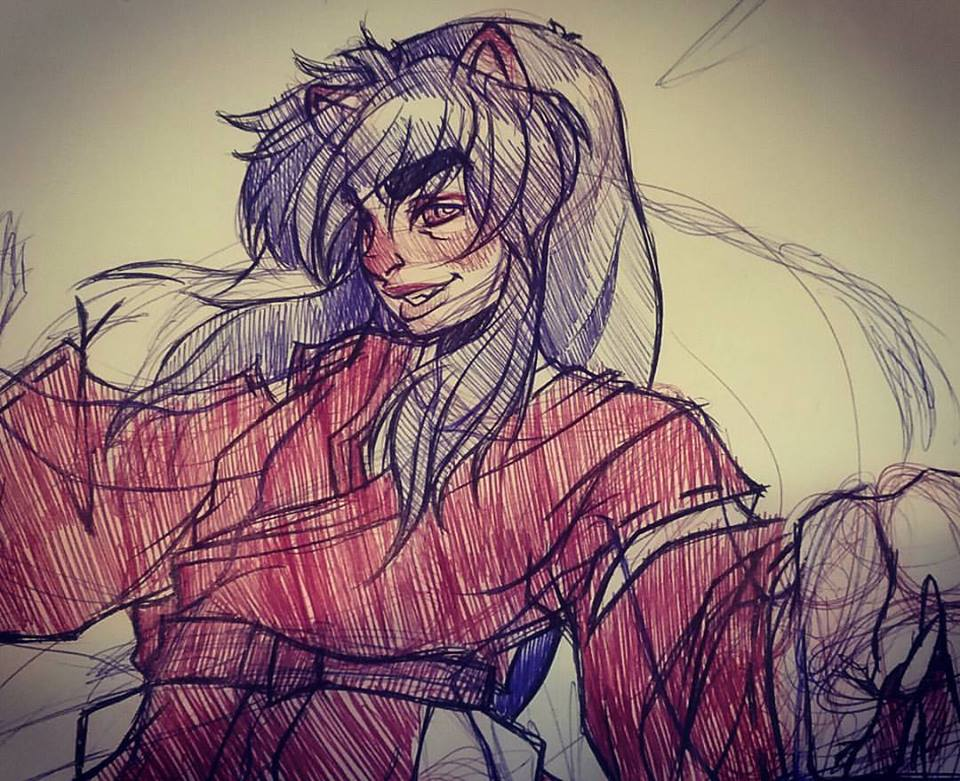 Inuyasha sketch by Cuddlebunnieluv