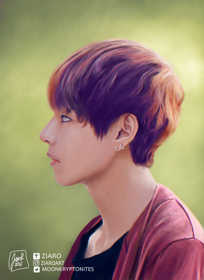 [Digipainting] Happy Taehyung day I by Z1aR0