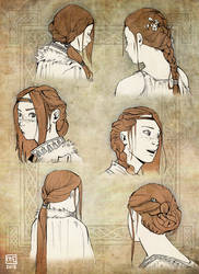 Mirail (hair practice) by Enmascarada