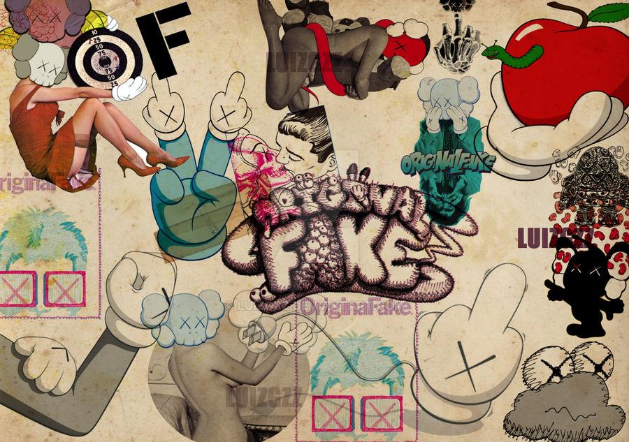 Kaws Wallpaper Design By Luizgzz On Deviantart