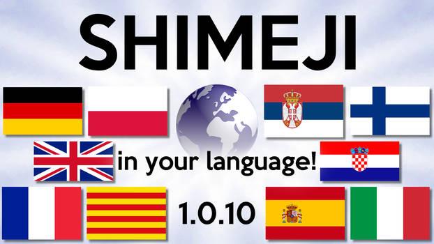 Shimeji 1.0.10 - In Your Language!