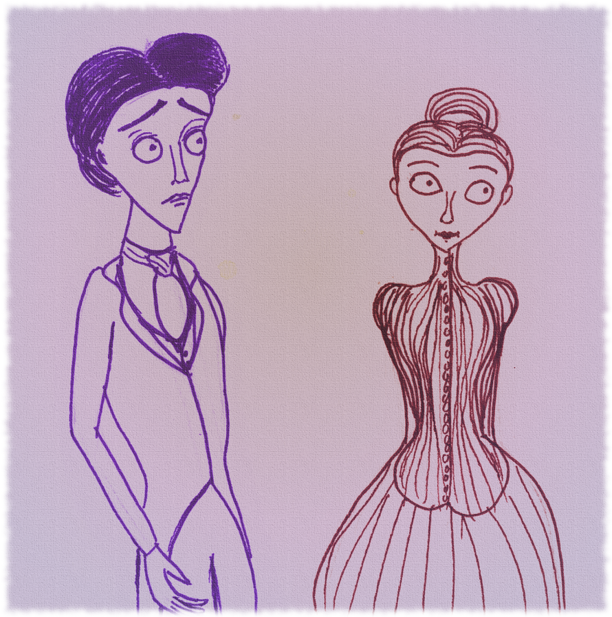 Sketchswap October 2014 Victor and Victoria by aynawiseone