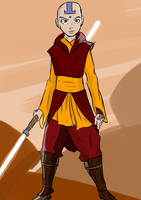 Aang: The Chosen One by JediqueerArt