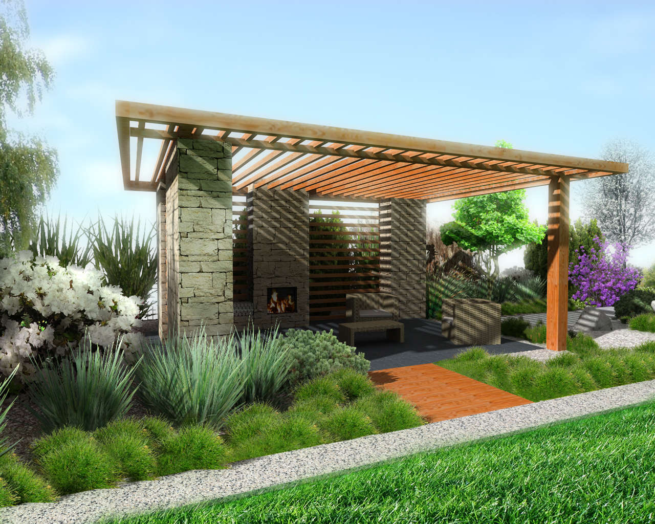 Gazebo with fireplace design concept by jaro313 on deviantart - Outdoor gazebo plans with fireplace ...