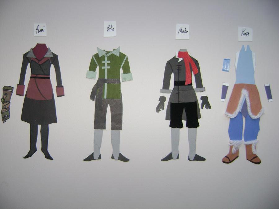 Legend of Korra Paper Costumes by Nightstar1231
