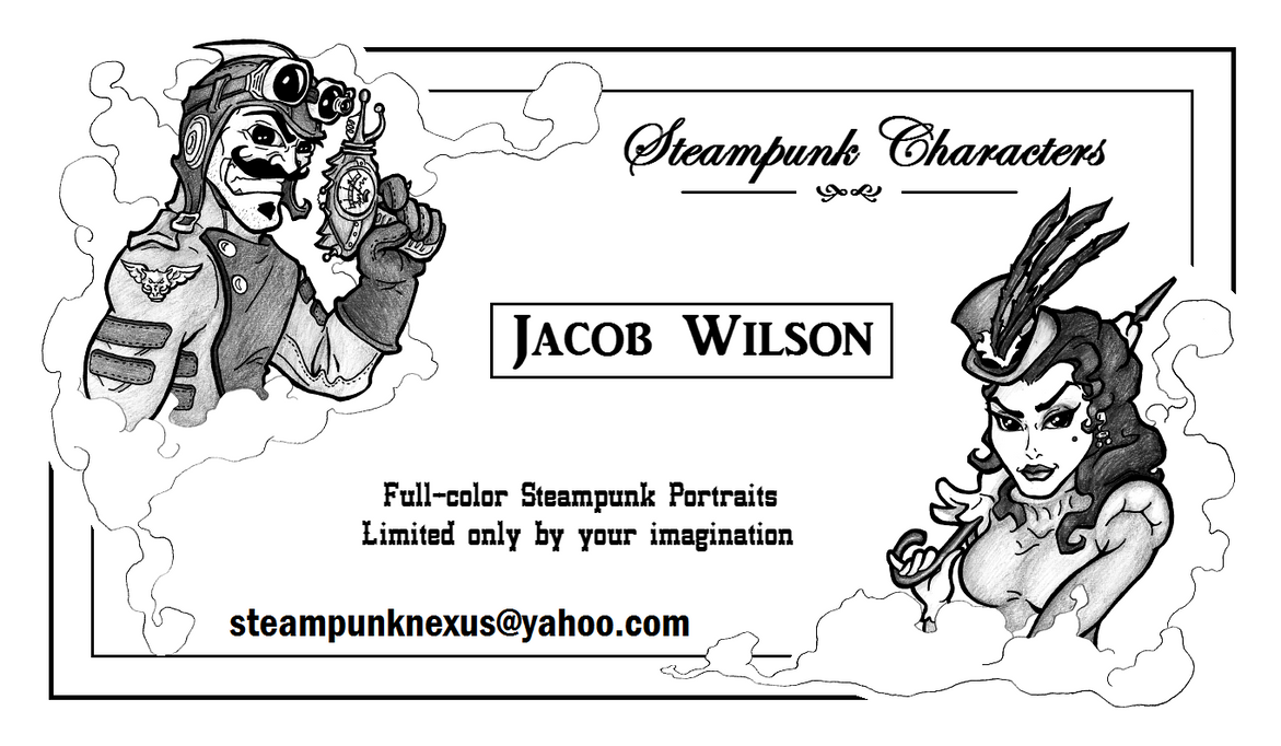 Steampunk Caricature Business Card by RatGnaw on DeviantArt
