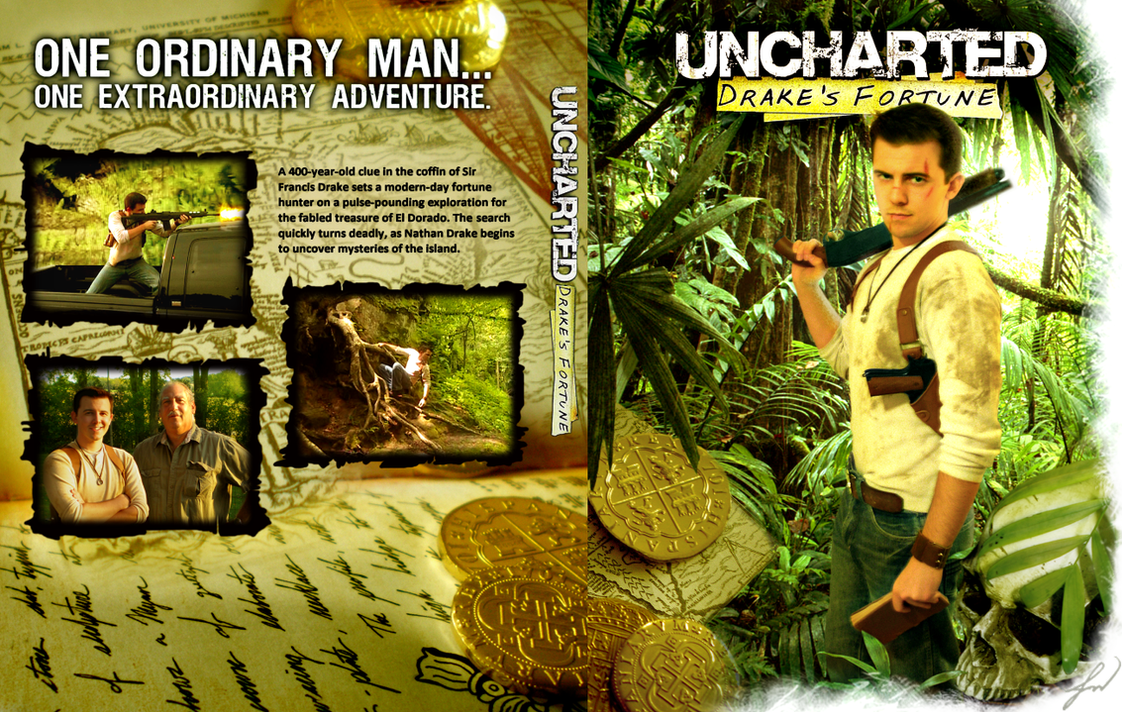 Uncharted Drake's Fortune DVD Cover by RatGnaw on DeviantArt  Uncharted Drake...