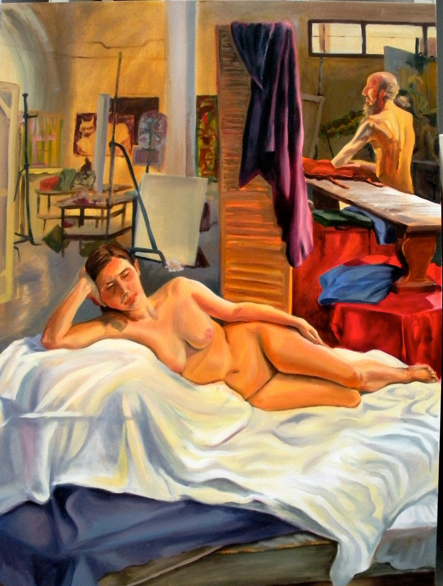 nude model painting 03 by wkpawprints d3ccgtn nude model 2 by ~justpaint44 on deviantART