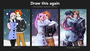 Draw this again: Vacation in white (comparison)