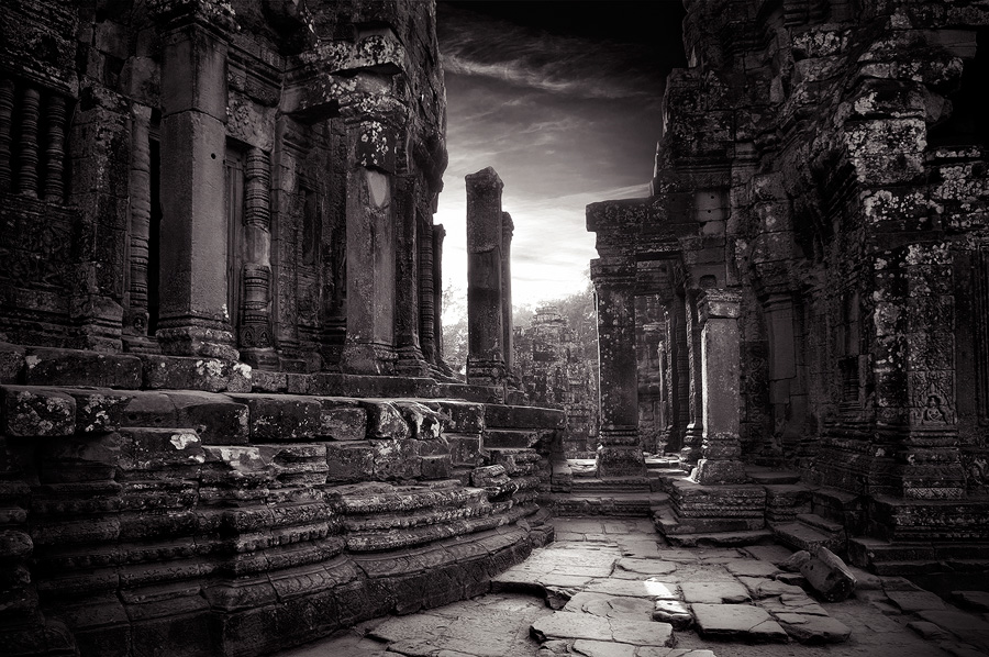 bayon temple cambodia by elementality