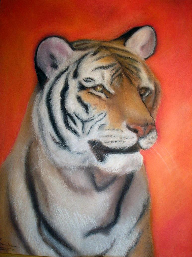 tigre en pastel by littlecarrot