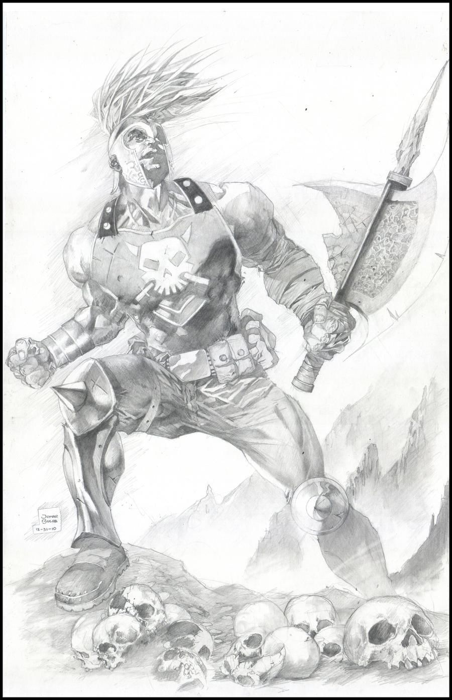 Greek God Ares Drawing ares God of war by orp...