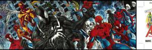 Artist proof Spidermen by orphanshadow