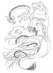 Water serpents by Leagas