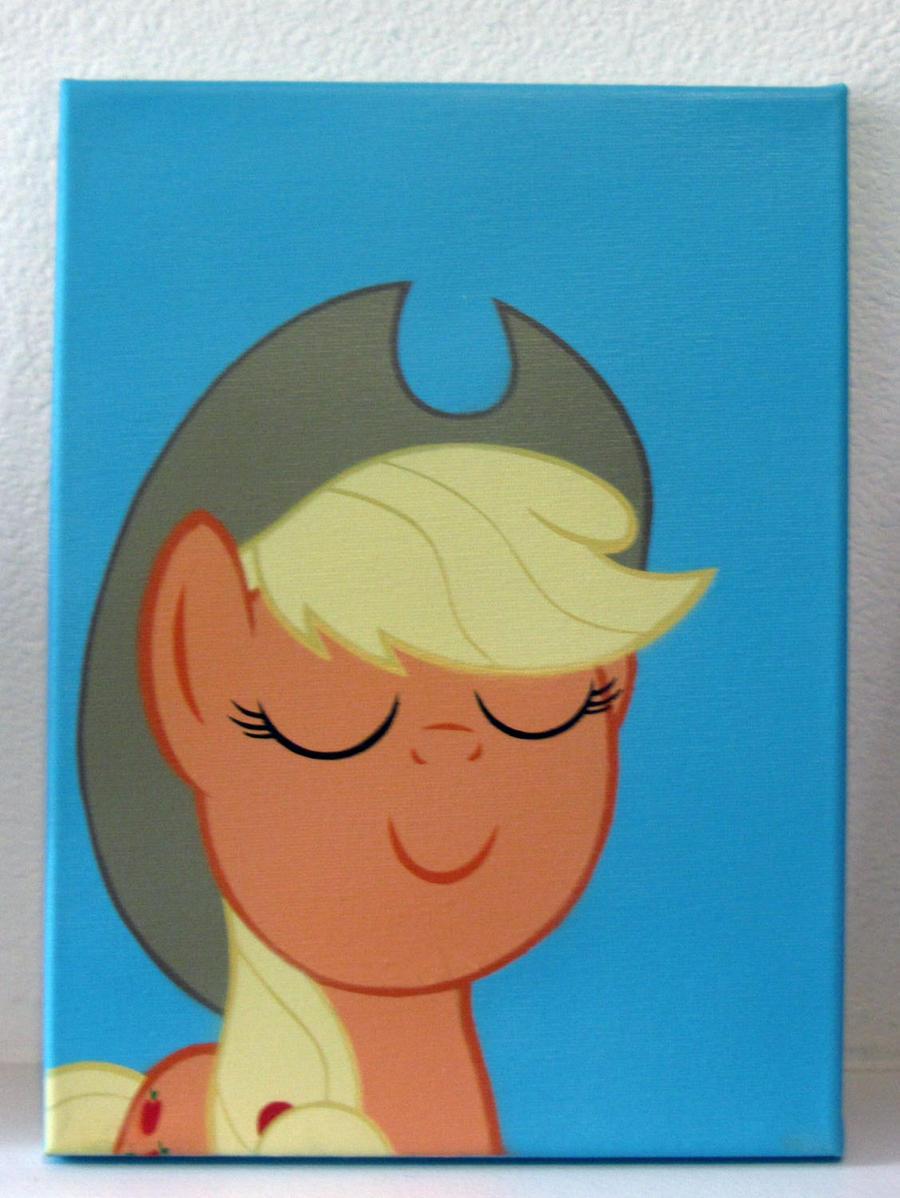 happy applejack by pyrobob on deviantart