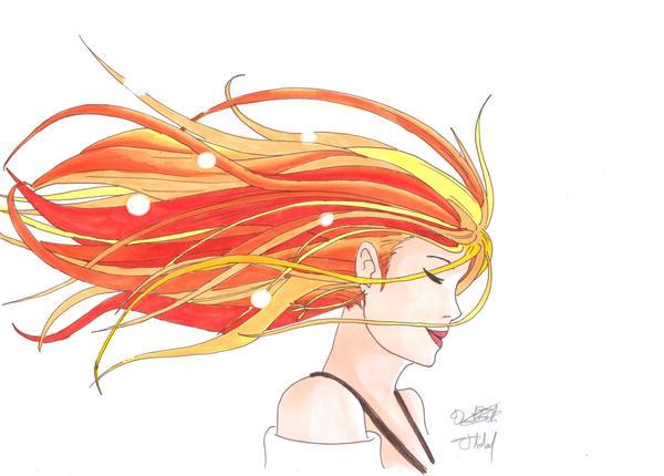 flowing hair by Ildur
