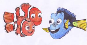 Nemo, Marlin and Dory