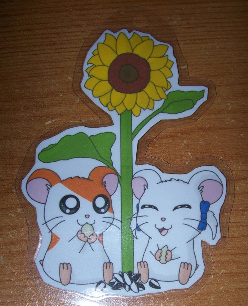 Hamtaro and Bijou keychain by BlueSmudge