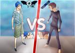 Mashiro VS Nizuma by retinascrew