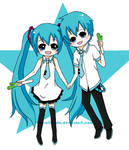 Hatsune Twins ChibiStar