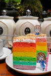 Rainbow Cake Tea Time with Yui and Mugi by vaasollasido