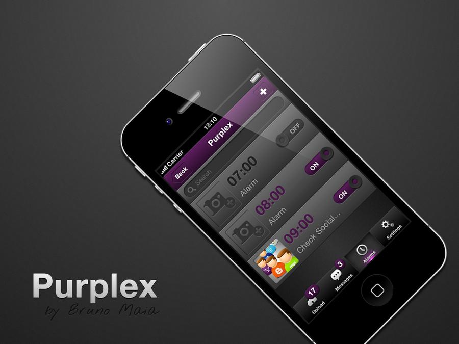 Purplex iOS Mobile UI by IconTexto