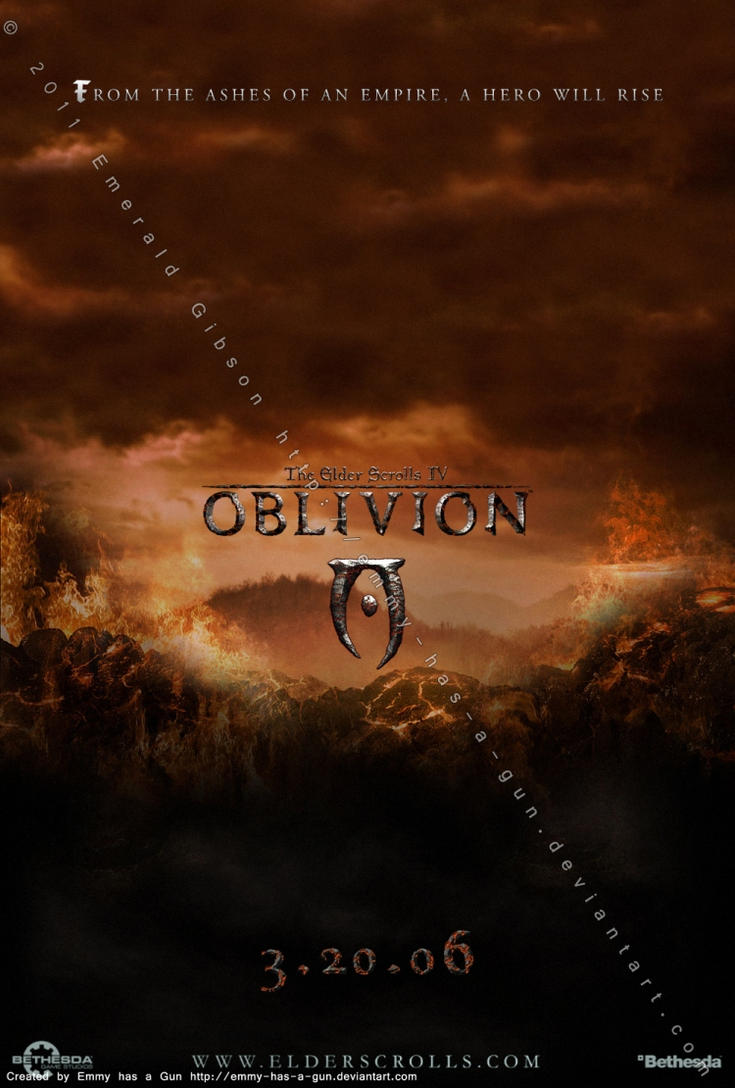 TES IV: Oblivion Poster by Emmy-has-a-Gun