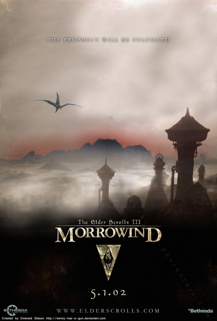 TES III: Morrowind Poster by Emmy-has-a-Gun